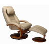 This item: Billing Cobblestone Top Grain Leather Manual Recliner and Ottoman