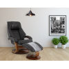 This item: Milan Espresso Top Grain Leather Manual Recliner with Ottoman and Pillow