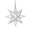 This item: Antique Brass and Clear Glass 12-Inch Star Chandelier
