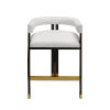This item: Dark Espresso Oak and White Linen 33-Inch Upholstery Bar Stool
