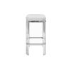 This item: Acrylic, Polished Nickel and White 27-Inch Counter Stool with Cushion