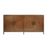 This item: Matte Walnut and Bronze Cabinet