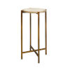 This item: Antique Brass and Gray Faux Shagreen 20-Inch End Table
