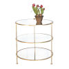This item: Gold Leaf Three-Tier End Table