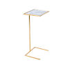 This item: Gold Leaf and Antique Mirror 26-Inch End Table