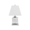 This item: White Carrara Marble and Polished Nickel Table Lamp