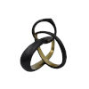 This item: Black Powder Coat and Gold 10-Inch Sculpture