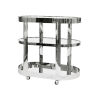 This item: Polished Nickel and Plain Mirror Bar Cart