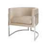 This item: Polished Nickel and Cream Velvet Chair
