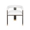 This item: Dark Espresso Oak and White Linen Upholstery Stool