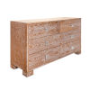 This item: Acrylic Dark Cerused Oak and Polished Nickel Six Drawer Chest