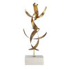 This item: Gold Leaf and White Marble Sculpture