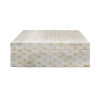 This item: Natural Bone 12-Inch Basketweave Decorative Box
