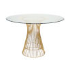This item: Gold Leaf and Iron 54-Inch Dining Table with Glass Top