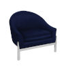 This item: Navy Velvet and Polished Nickel Lounge Chair