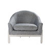 This item: Slate Blue and Polished Nickel Lounge Chair