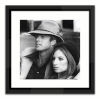 This item: Black Lacuquer Robert Redford and Barbara Streisand Wall Frame
