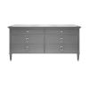 This item: Matte Dark Grey Lacquer and Polished Nickel Chest