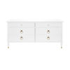This item: Matte White Lacquer and Polished Brass Chest