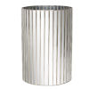 This item: Plain Mirror and Silver Waste Basket