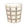 This item: Brown and Cream Oval Waste Basket