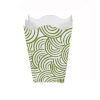 This item: Green and Cream Square Wave Top Waste Basket