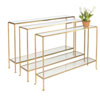 This item: Hammered Gold Leaf 55-Inch Skinny Console Table with Clear Glass