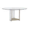 This item: Classic Clear Break the Ice Round Dining Table