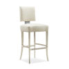 This item: Caracole Classic Lightly Brushed Chrome and Beige Reserved Seating Bar Stool