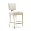 This item: Caracole Classic Lightly Brushed Chrome and Beige Reserved Seating Counter Stool