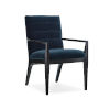 This item: Modern Edge Upholstered Arm Chair in Black