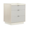 This item: Modern Expressions Ash Taupe, Winter Haze and Delicate Gray Nightstand
