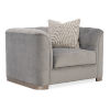 This item: Classic Gray Tuft Guy Arm Chair