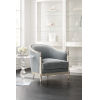 This item: Caracole Classic Soft Silver Paint and Gray Splash of Flash Chair