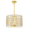 This item: Belinda Champagne Four-Light Chandelier with K9 Clear Crystal