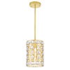 This item: Belinda Champagne One-Light Mini Pendant with K9 Clear Crystal