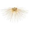 This item: Savannah Gold Leaf Eight-Light Flush Mount