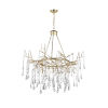 This item: Anita Gold Leaf 12-Light 43-Inch Chandelier with K9 Clear Crystal