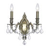 This item: Antique Brass Two-Light 6-Inch Wall Sconce with K9 Clear Crystal