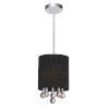 This item: Water Drop Chrome and Black One-Light 9-Inch Mini Pendant with K9 Clear Crystal