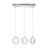 This item: Ring Chrome 18-Light LED 24-Inch Pendant with K9 Clear Crystal