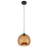 This item: Black One-Light 12-Inch Pendant with Amber Glass