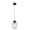 This item: Black and Clear One-Light 11-Inch Mini Pendant