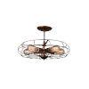 This item: Pamela Antique Copper Five-Light Flush Mount