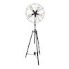 This item: Pamela Black Five-Light Floor Lamp