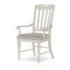 This item: Brookhaven Vintage Linen Rustic Dark Elm Arm Chair, Set of Two