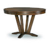 This item: Highland Saddle Brown Pedestal Table