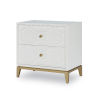 This item: Chelsea by Rachael Ray White with Gold Accents Nightstand