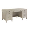 This item: Greystone Pearl Gray and Nickel Avery Executive Desk