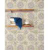 This item: Boho Rhapsody Coral, Cream and Midnight Blue Mandala Boho Tile Unpasted Wallpaper